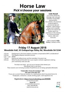 thumbnail of Horse Law 17 Aug 2018