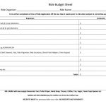thumbnail of Ride Budget Sheet 2018
