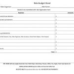 thumbnail of Ride Budget Sheet 2019
