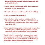 thumbnail of RULES FOR TOWING THE RIDE TRAILER